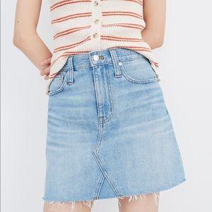 Madewell Rigid Denim A-Line Denim Skirt